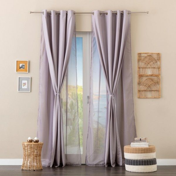 Simona New Rose adjustable curtains