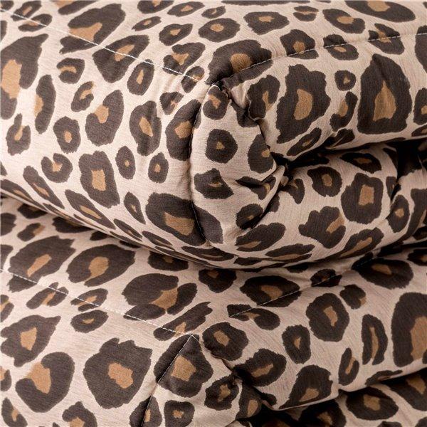 Trapunta in microfibra Leopard