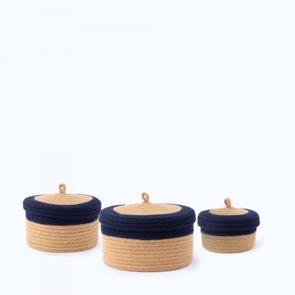 Set 3 Contenitori in Cotone Alok