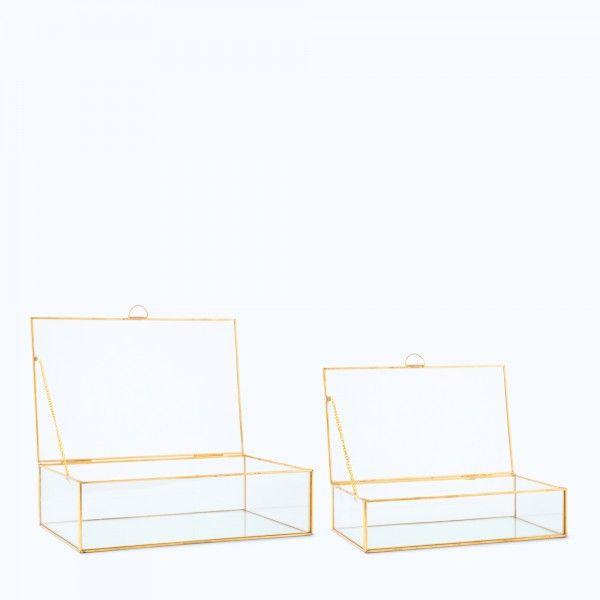 Set scatola decorativa in vetro