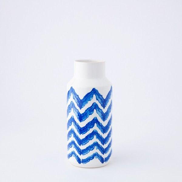 Vaso Ceramica Chevron