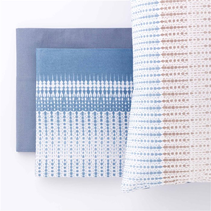 Loneta printed Grey Desire fabric by the metre