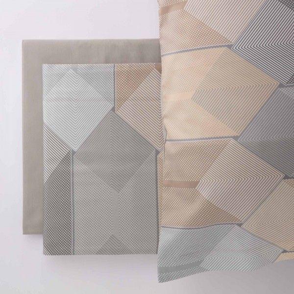 Loneta printed lilac leaf fabric by the metre