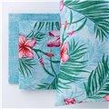 Completo lenzuolo copriletto tropical