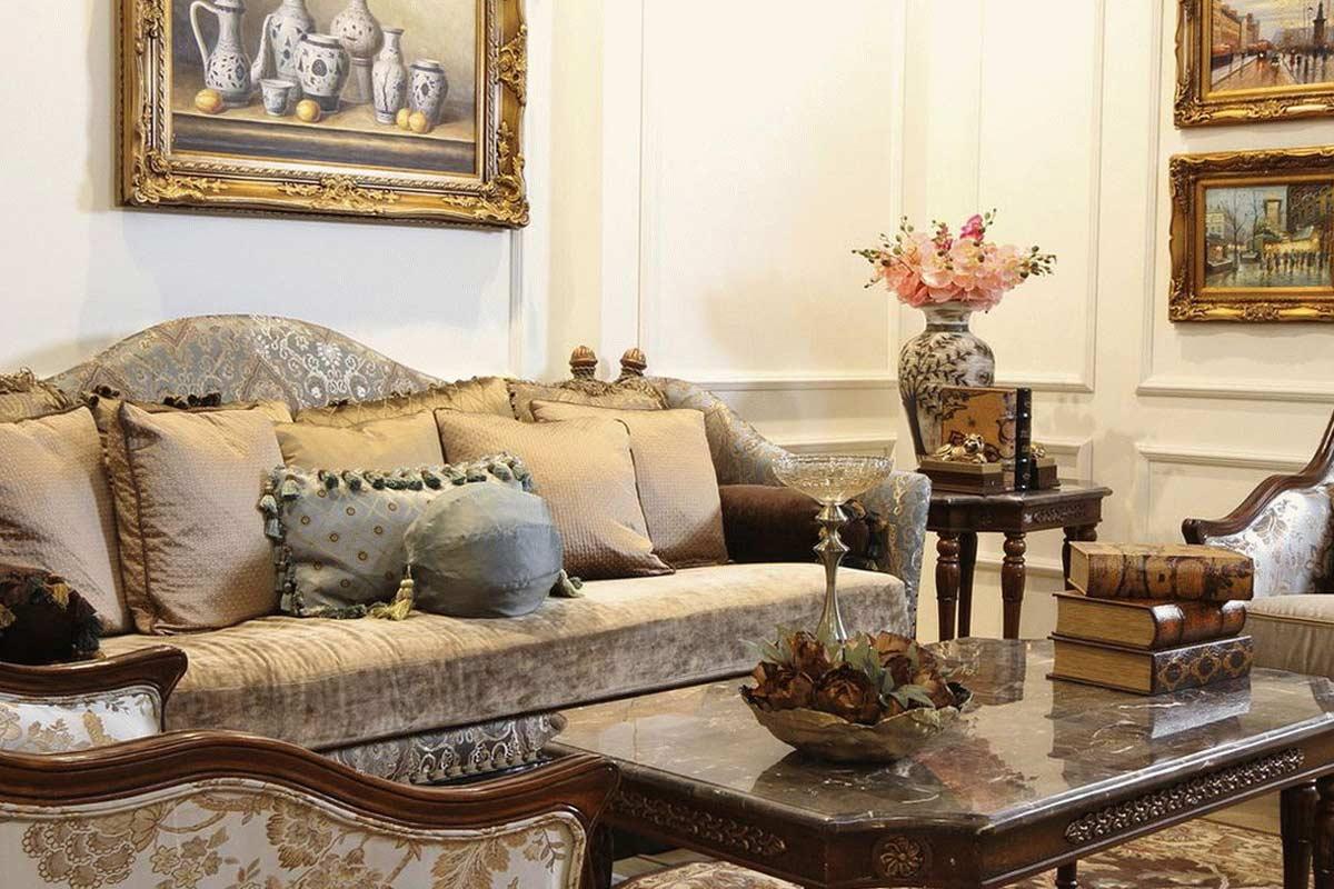 Divano E Tavolo Insieme stile liberty: design elegante e vintage per la tua casa