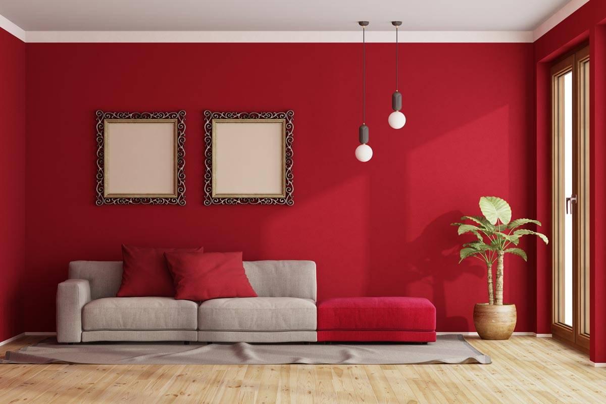 Divano Rosso E Grigio come arredare con il color rosso pompeiano: gli abbinamenti