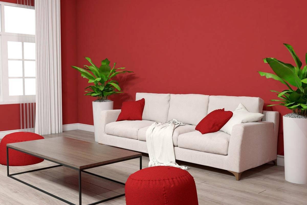 Come arredare con il color rosso pompeiano gli for Divano rosso abbinamenti