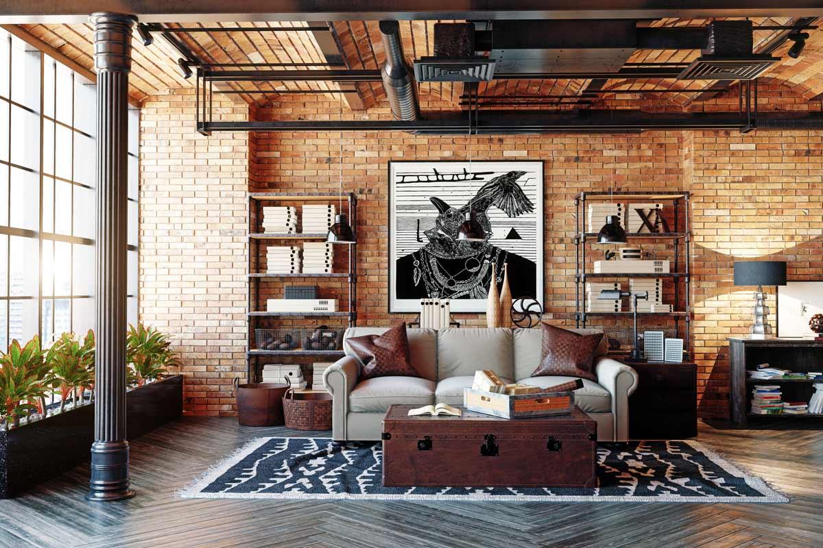 Arredo stile industrial atmosfere vintage e loft moderni for Oggetti di arredamento